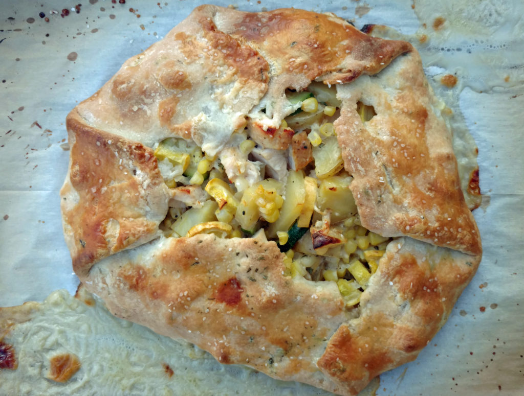 Summer Vegetable Chicken Pot Pie Crostata